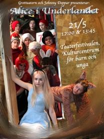 Alice i underlandet affisch